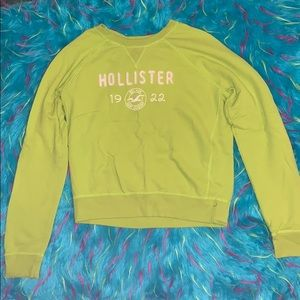 Light Neon Green Hollister Sweatshirt